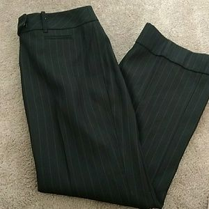 Ann Taylor Loft Pin Strip Black dress pants