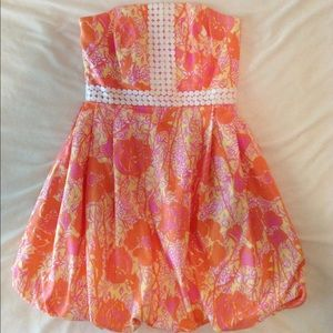 Lilly Pulitzer Regency Pink & Orange Bubble Dress