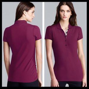 burberry brit // short sleeve pique polo shirt