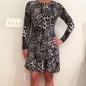MICHAEL Michael Kors Cheetah Print Sweater Dress