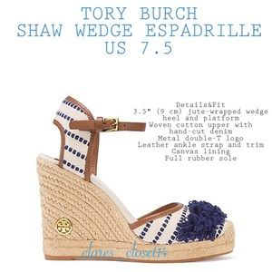 💯% Authentic Tory Burch Wedge