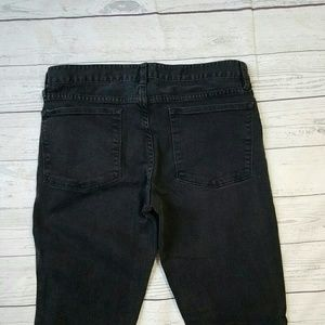 J. Crew Toothpick Ankle Washed Out Black
