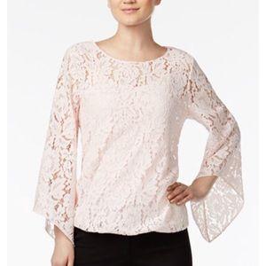 Alfani cream blouse with built in tank