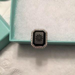 25bdfe93b Tiffany & Co. Jewelry - Authentic Tiffany Silver Onyx Daisy Ring Size 7.5