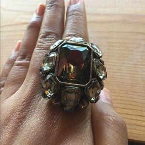 Rhinestone gem 💎 cocktail ring