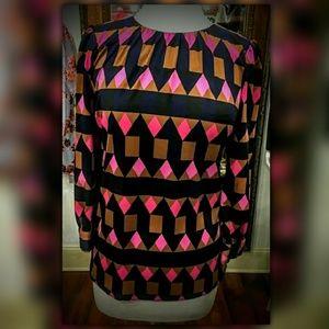 Julie Brown Kieley Fairisle Blouse Top Shirt