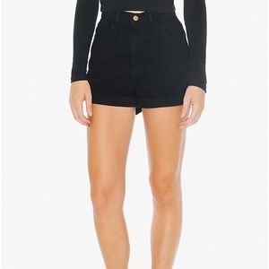 American Apparel Black High Waisted Shorts