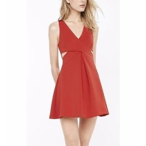 Red Express Dress with side cutouts