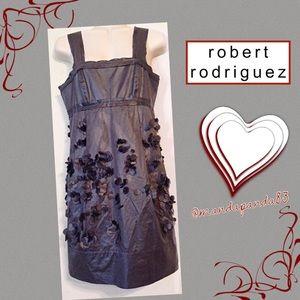 Robert Rodriguez Charcoal Confetti Cocktail Dress