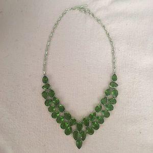 Jewelry - GORGEOUS teardrop peridot 9.25 SS necklace