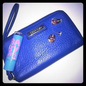 CLEARANCE! Royal blue Calvin Klein wristlet