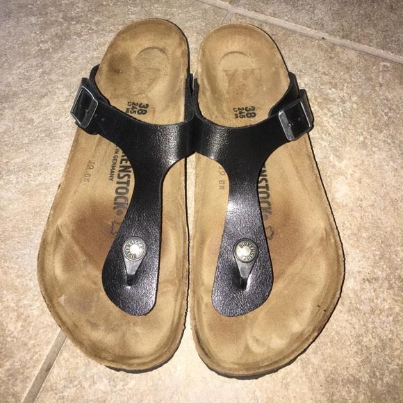 a99d2eb7174e Birkenstock Shoes - Birkenstock Gizeh Birko floor sandals sz 38-7-7.5