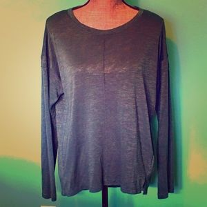 Banana Republic Teal Long Sleeve Shirt Top Medium