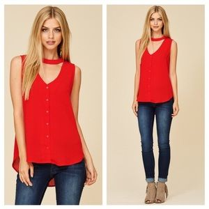 Tops - Hard to Get Choker Blouse