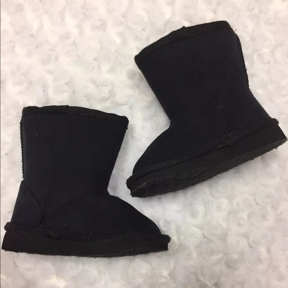 NWT GARANIMALS Infant Girls Black Shearling Boot Size 5