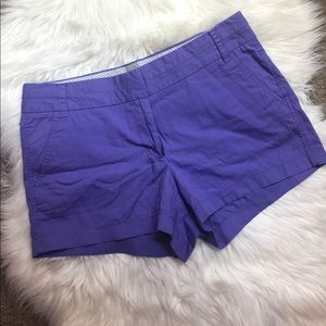 "purple j. crew 5"" chino shorts size 8"
