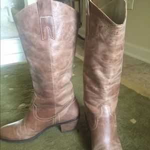 Shoes - Distressed boots. Tried on and never worn outside
