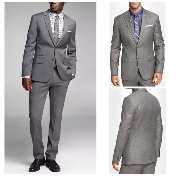Express Other - Express Photographer Slim Gray Suit Jacket Pants