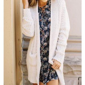 Sweaters - Cream Cardigan Sweater