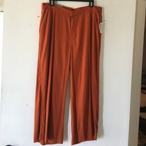 Burnt Orange Jambre Wide Leg Pants