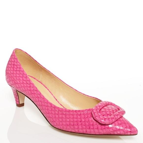 e390004da50e kate spade Shoes - Kate Spade Simon Snake Print Kitten Heel