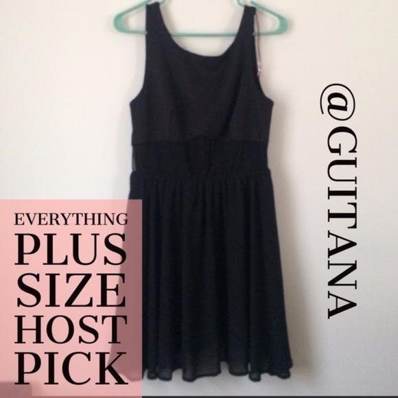 8706368706b Charlotte Russe Dresses   Skirts - Black semi sheer dress for Brittany