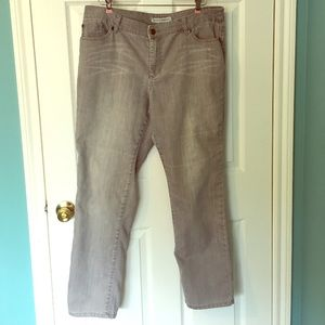Chico's Platinum Denim Gray Jeans 3 L XL 16
