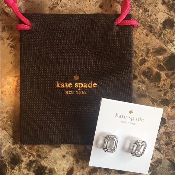 Kate Spade Jewelry New Silver Freeze Frame Stud Earrings Poshmark