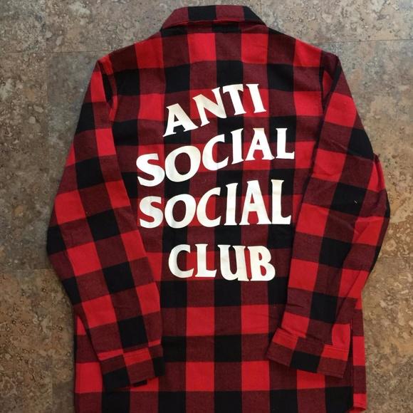 9ba117dd25e8 Anti Social Social Club Other - Replica Anti Social Social Club (ASSC)  Flannel