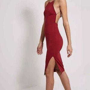 Dresses & Skirts - Burgundy Backless Dress - Pretty Little Thing