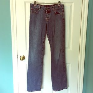 Lucky Brand Easy Rider Jeans 8/29 Long Button fly