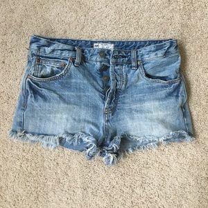 "Free People ""Uptown"" Denim Shorts - size 27"