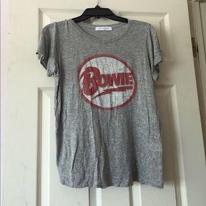David Bowie UO Gray T Shirt