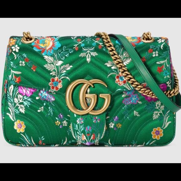 ac169362e4231f Gucci Bags | Gg Marmont Floral Jacquard Shoulder Bag | Poshmark