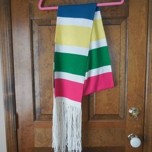 Express Colorful Scarf with Fringe
