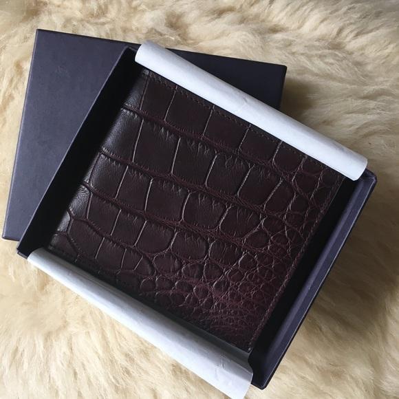 a77f15fc64a8 PRADA Crocodile Leather Men s Wallet