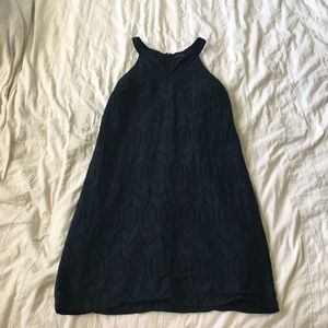 Banana Republic Eyelet Dress Navy Sz 10