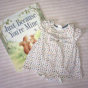 Other - H&M Baby Organic Cotton Onesie Floral Kitten Dress