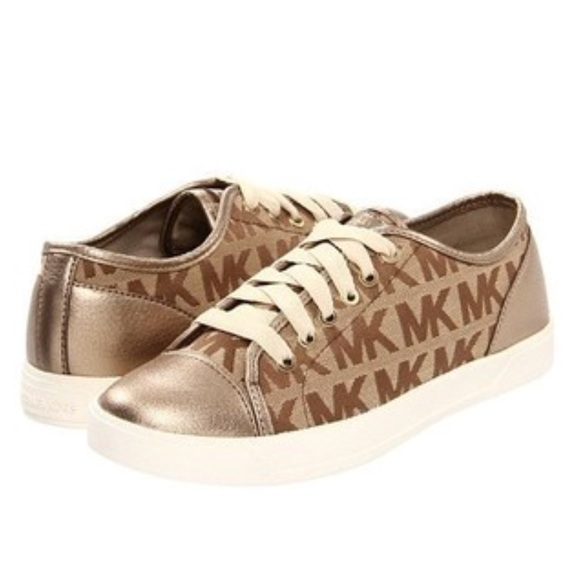 Fabelhaft Michael Kors Shoes | Final Pricebrand New Mk City Sneakers Bronze &HI_49