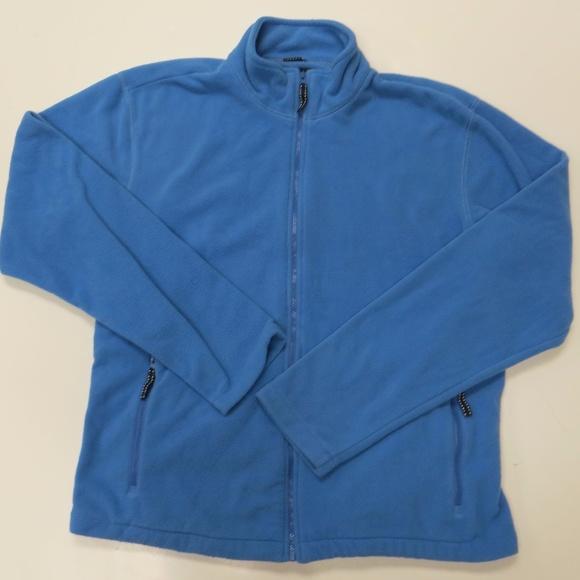Lands End Blue Fleece Jacket Large 42 44