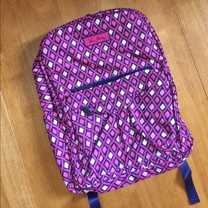 Vera Bradley Backpack Bag Grande Katalina Pink