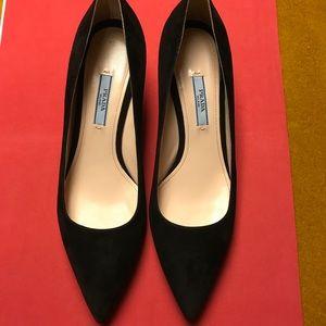 Prada Black Kitten Heels