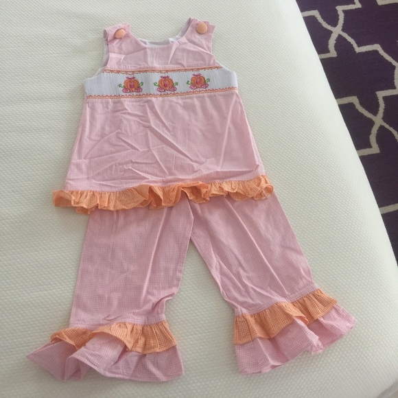 3fca7977a shrimp and grits Matching Sets | Smocked Pumpkin Coach Ruffle Pant ...