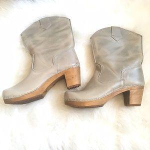 Sanita Clog Boots Grey Leather 37/7