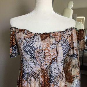 Off the shoulder maxi dress!