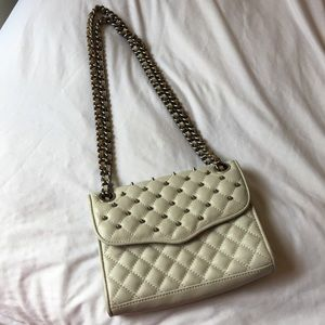 Gray Quilted Studded Mini Affair Rebecca Minkoff