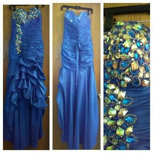 "BEAUTIFUL ""BLINGED"" OUT EVENING GOWN!!!"