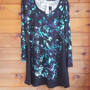 New Cable & gauge 3/4sleeve tunic top size medium