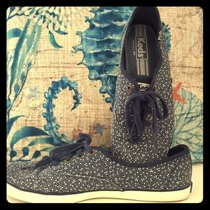 Shoes - KEDS blue with white polka dots