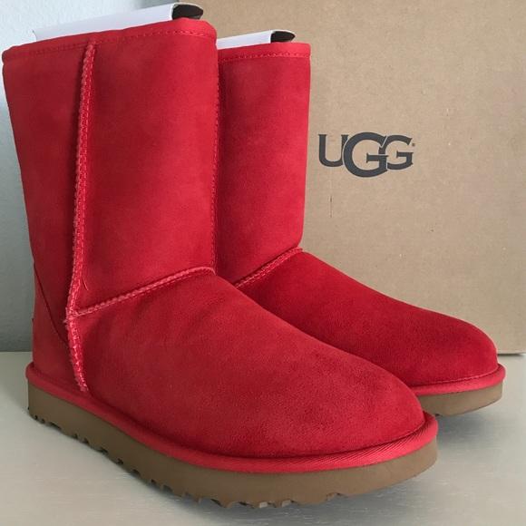 f052da45f58 UGG Lipstick Red 💄 Classic II Short Boots NWT